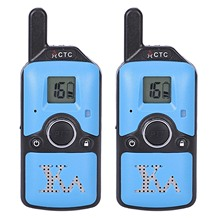 Carter Cool 2Pcs Dh-U8 Mini Walkie Talkie Kids Children Radio 1.5W 400-480Mhz Free Frequency 99 Channel