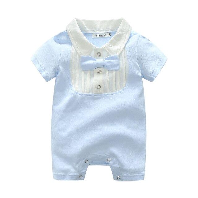 Toddler Boys Girls Romper Shirt Peter Pan Collar