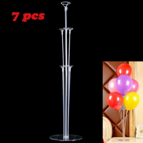 1Set Balloons Column Stand Plastic Balloon Support With 7 -4477