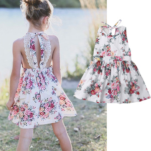 Summer Kid Dress For Girl 2019 Princess Backless Teenage Party Wedding Holiday Princess Dress Children Costume for Kid Clothes(China)