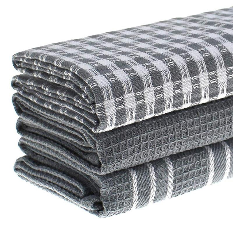 HOT SALE) 3 Pcs/set Kitchen Towels Classic 100% Natural ...