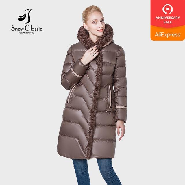 Зимние классические новый 2018 camperas mujer abrigo invierno куртка женщин пальто парка высокого класса шерсть носить шляпа толстые ветрозащитный