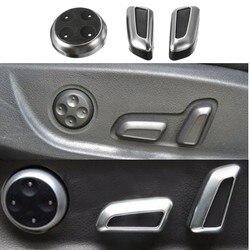 6 sztuk/zestaw ABS Chrome pokrętło regulacji fotela przycisk przełącznik dla Audi A3 A4 A5 A6 Q3 Q5 akcesoria samochodowe|Przełączniki i przekaźniki samochodowe|Samochody i motocykle -