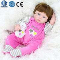 16 Inches Pretty Simulation Silicone Baby Girl Brown Eye Love Jumpsuit Reborn Baby Doll In One piece Dress Free Shipping