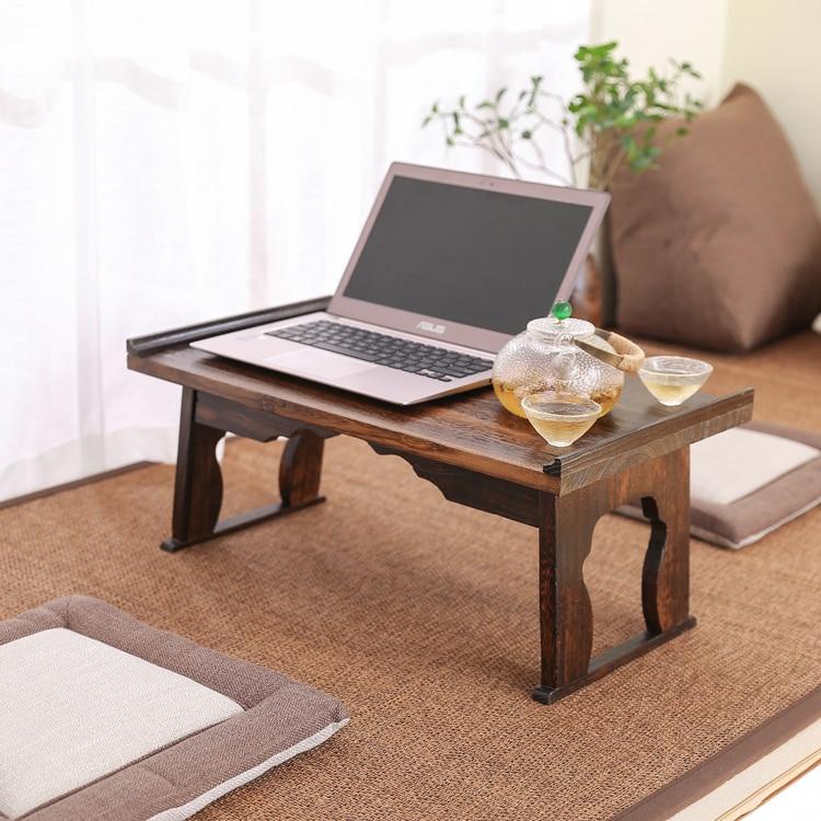 Table d'ordinateur Portable pliante en bois de 60X35 CM meubles de Style asiatique canapé-lit bureau petit bureau café thé Table basse pour Tatami HW11