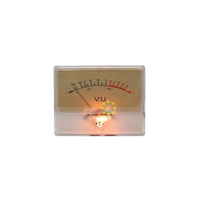 Hoge Precisie Vu Meter Hoofd Versterker Amp Db Niveau Meter Voorversterker Chassis Geluidsdruk Indicator Meter Met Achtergrondverlichting