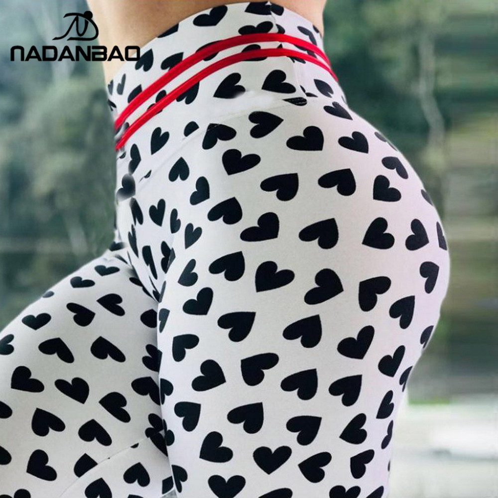 NADANBAO 2019 Don't Stop Women Leggings Spot Fitness Workout Legging Love Print Hight Waist Elastic Leggins Sexy Female Pants
