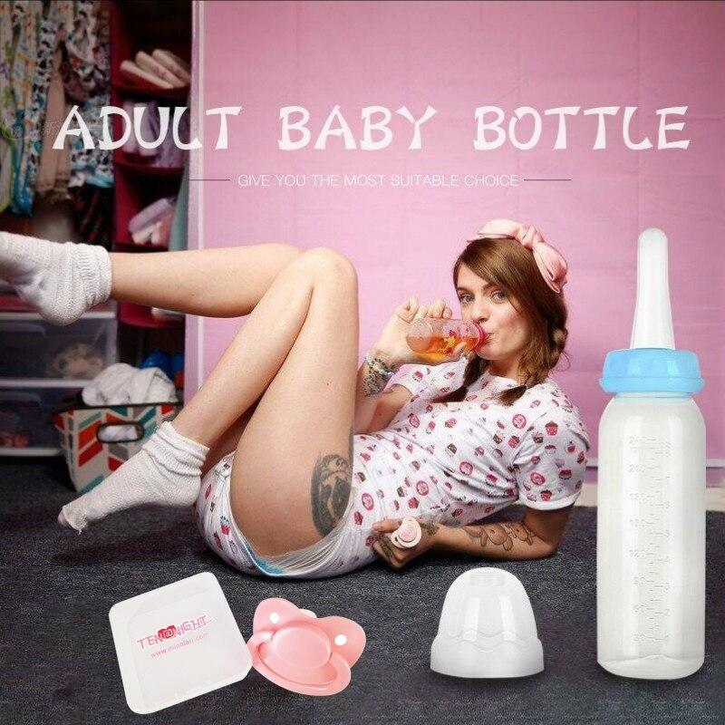 Adult Baby Bottle with Pacifier 4 Colors ABDL Milk Bottles Little Space Ddlg Bottle Daddy Little Girl 240ML bioaqua exfoliante para pies