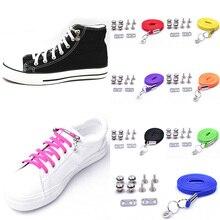 купить 1 Pair New Style Lazy Shoelaces Quick Easy Sneaker Elastic Shoe Laces One-handed Shoelace Sport shoes No Tie Candy Color Hotsale дешево