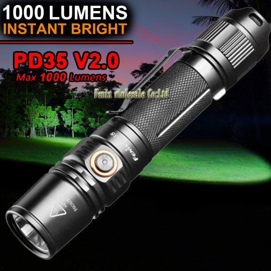fenix PD35 V2 0 Torch Flashlight 1000lm suitable for military use policing outdoor exploring emergency lighting