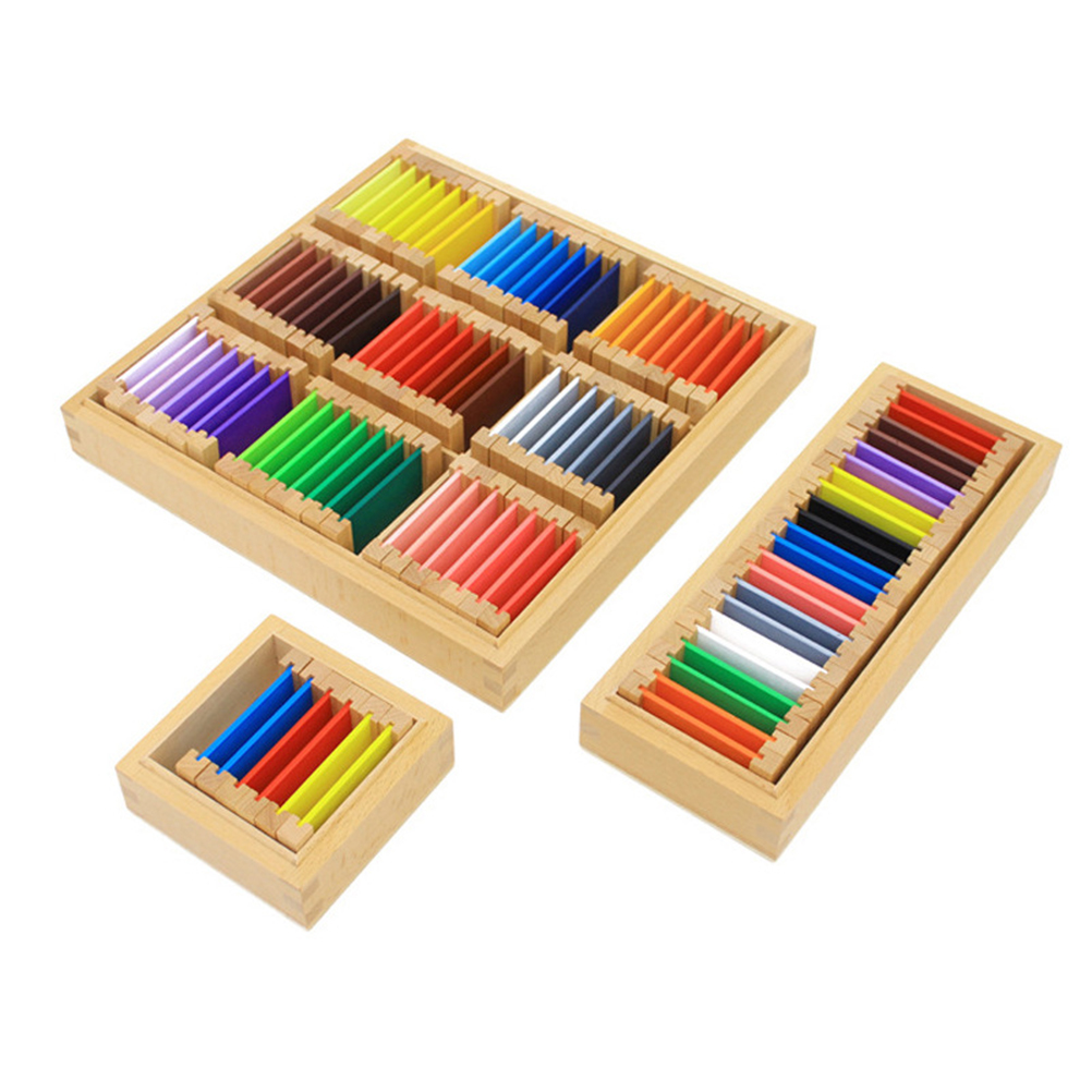 Kids Wooden Building Blocks Color Cognition Toy Montessori Early Learning Educational Toy (Large Size)