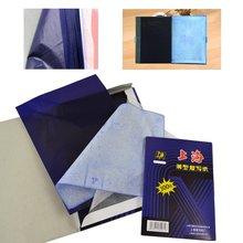 100 листов A4 темно-синяя углеродистая ручная машина для трафаретной печати переводная бумага гектограф черная углеродистая ручная машина для трафаретной печати переводная бумага