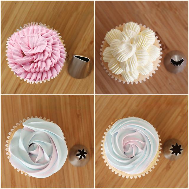72pcs Cake Decorating Tools Kit Case Bake Flower Cake Nail Set 44 Piping Tips Pastry Silicone Cake Bags Couplers Scraper Cake