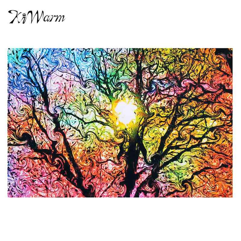 Brand New Sun Patterns Abstract Canvas Painting Nature Art Picture Poster Wall Sticker Picture 33*50cm Home Decor Living Room
