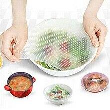 Многофункциональная силиконовая пищевая обертка, прозрачная многоразовая силиконовая обертка, s уплотнительная крышка, Стретч свежая обертка, кухонные инструменты, 3 размера