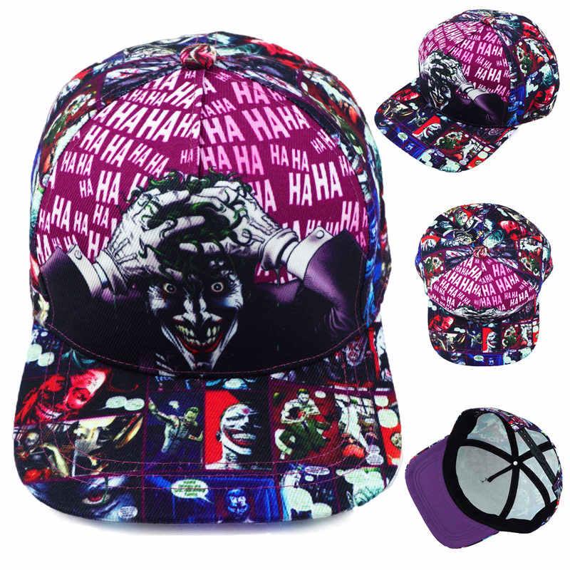 c96a7a6ad67 DC Comics The Joker Hat Baseball Snapback Caps Adjustable Hip Hop Hats For  Adult Boys Girls