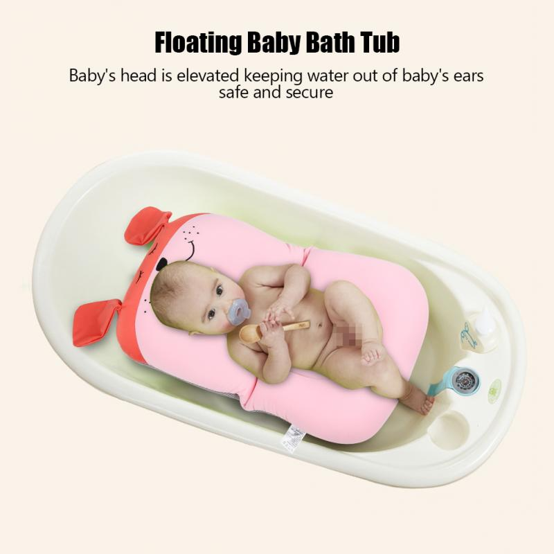 Floating Baby Bather and Non Slip Baby Bath Pad with Soft Air Cushion as Shower Bed for Infant 2