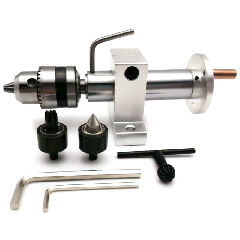 Multifonction forage poupée mobile Center en métal argenté avec griffe pour Mini tour Machine Centre tournant bricolage accessoires