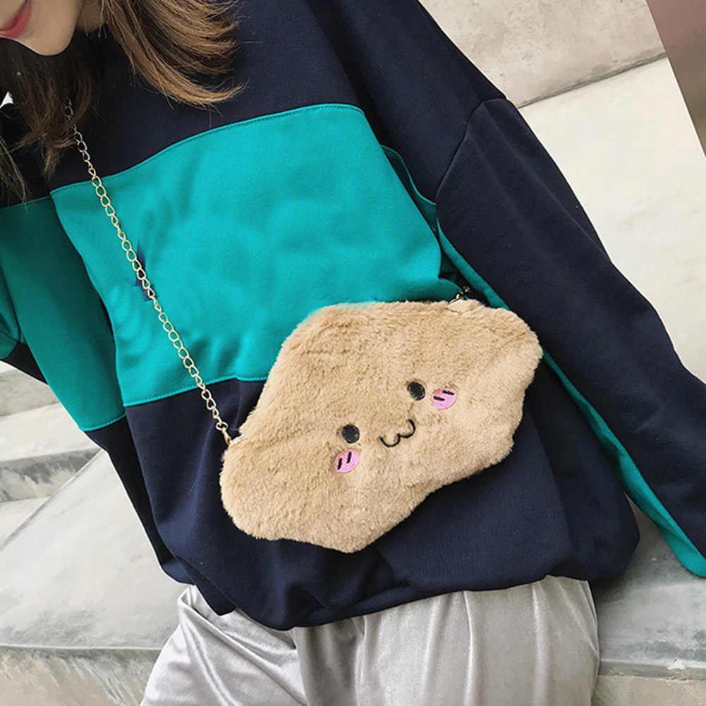 Милые плюшевые сумки на плечо для девочек ярких цветов, 2018 новые женские сумки-мессенджеры ярких цветов, зима-осень, лидер продаж Женский мини-мешок