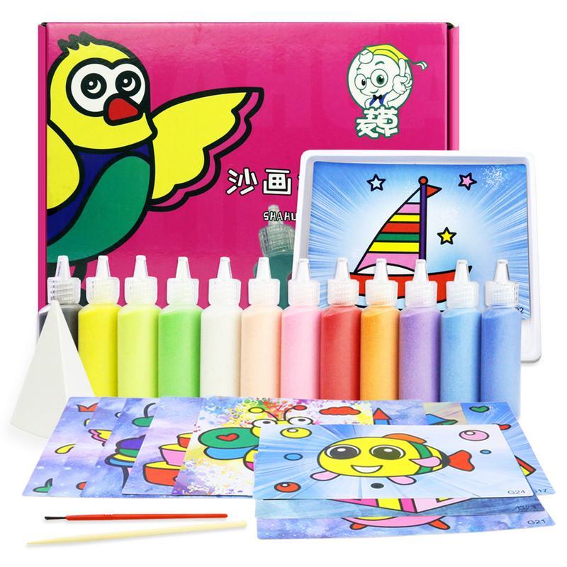 Niños puzle de jardín de infantes DIY juego de mesa de pintura de ...