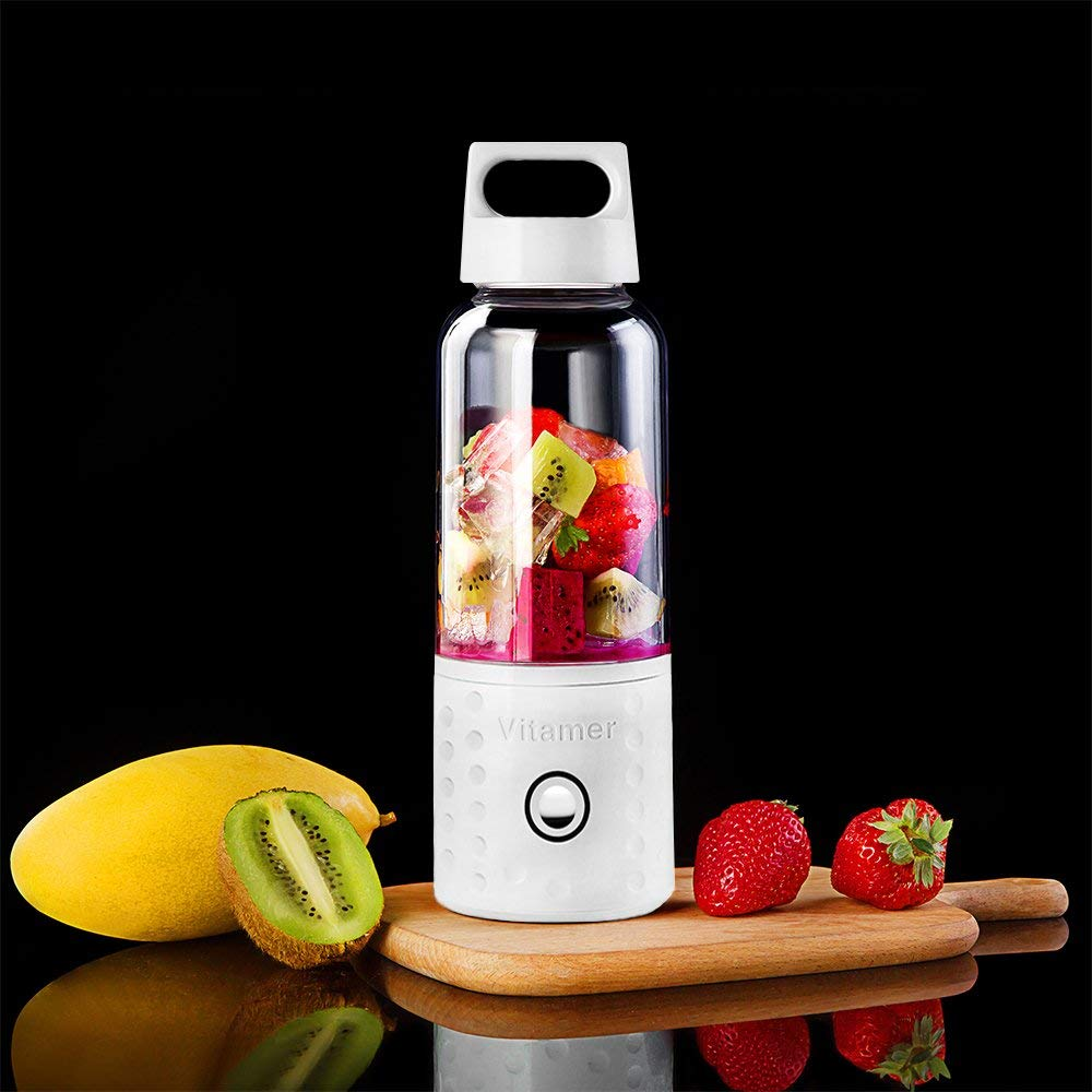 Image 4 - Portable Blender, Smoothie Blender USB Juicer Cup, 17oz Fruit Mixing Machine with 4000mAh Rechargeable Batteries, Detachable C-in Blenders from Home Appliances