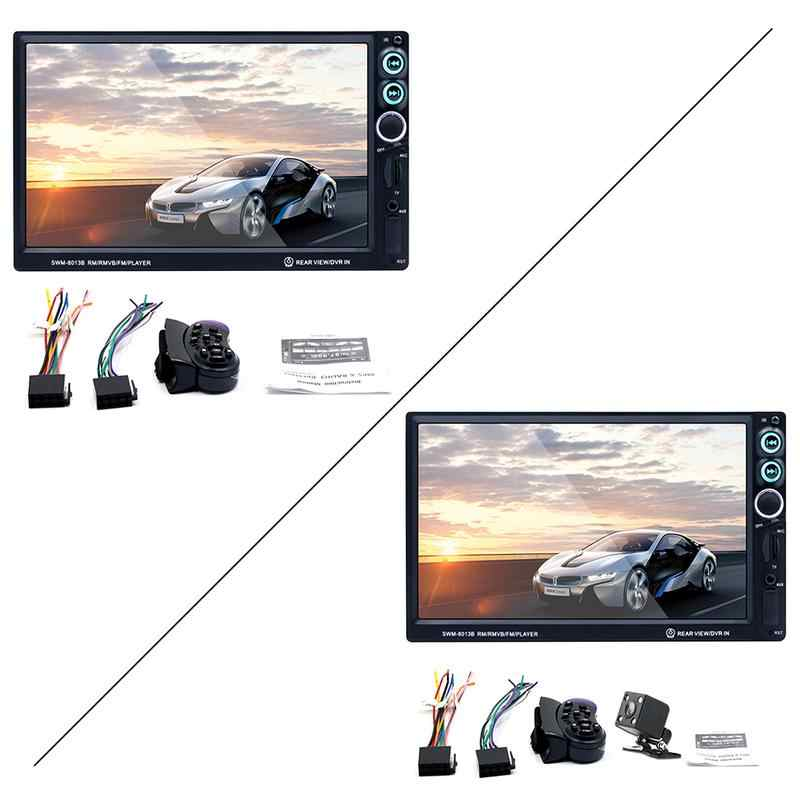 Radyo Kaset Çalar Araba Monte MP5 Oynatıcı HD 7 Inç Kart Ses Ve Video MP4 RM RMVB FM Oyuncu Otomatik aksesuar Automagnitol