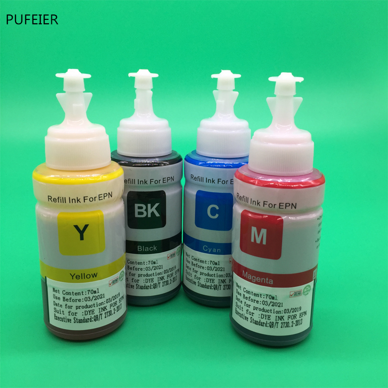 Image 5 - 4PCS 70ML T664 OEM Refill Dye Ink Kit For Epson L220 L301 L303 L310 L313 L351 L353 L358 L360 L363 L365 L455 L551 L558 L585 L1300-in Ink Refill Kits from Computer & Office