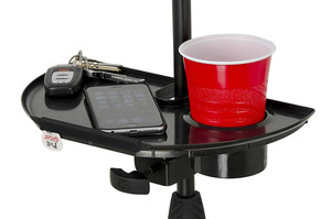 Image 3 - LEORY 1pc Black Frameworks Microphone Stand Accessory Tray With Drink Holder Toys Microphone Accessories