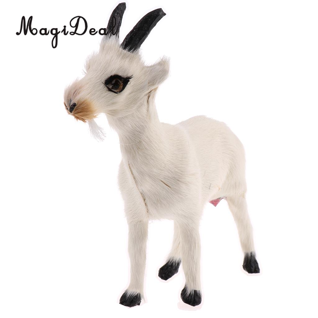 Realistic Lifelike Dog In Bed Rabbit//Goat Fur Animal