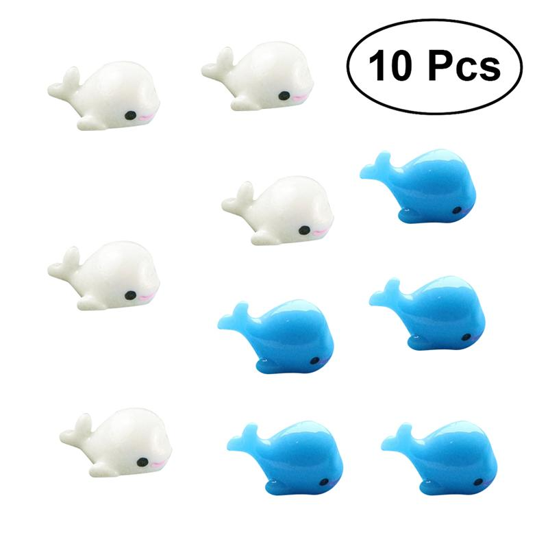 10Pcs Resin Miniatures Small Dolphins Mini Fleshy Landscaping Fish Tank Micro Landscapes Decors Crafts Ornaments
