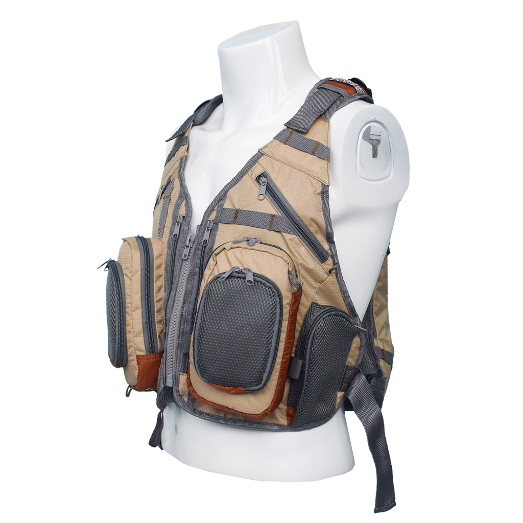 Fly Fishing Backpack Vest Combo Fishing Tackle Mesh Vest Multifunctional Bag Free Size for Outdoor Sports-in Fishing Vests from Sports & Entertainment    3
