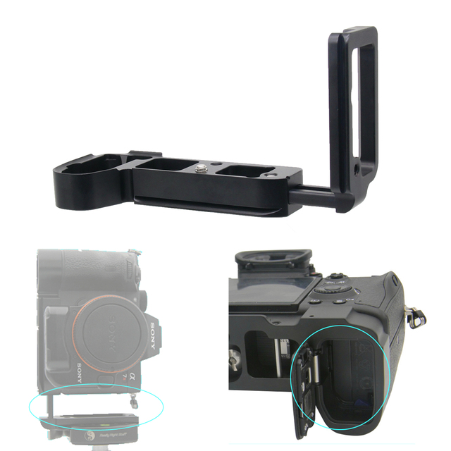 Extendable L Shape Vertical Quick Release Tripod Plate Bracket for Sony A7 III / A7R III / A9 / ILCE-9 ILCE-A7M3 ILCE-A7RM3