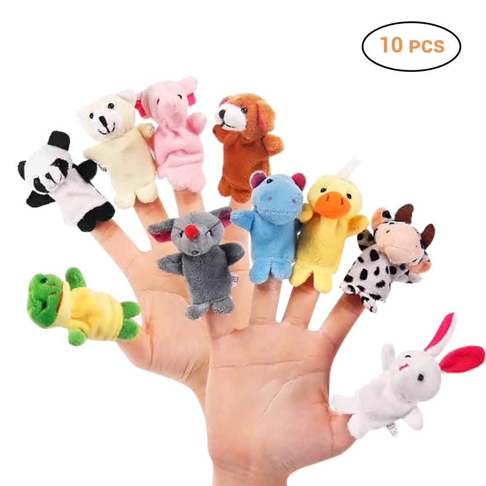 Plush-Toys Dolls Finger-Puppet Montessori Animal Baby Favor Biological Children Girls