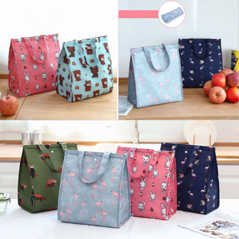 2019 New Brand Fashion Available New Cooler Insulated Canvas Picnic Lunch Bag Box For Unisex Thermal Food
