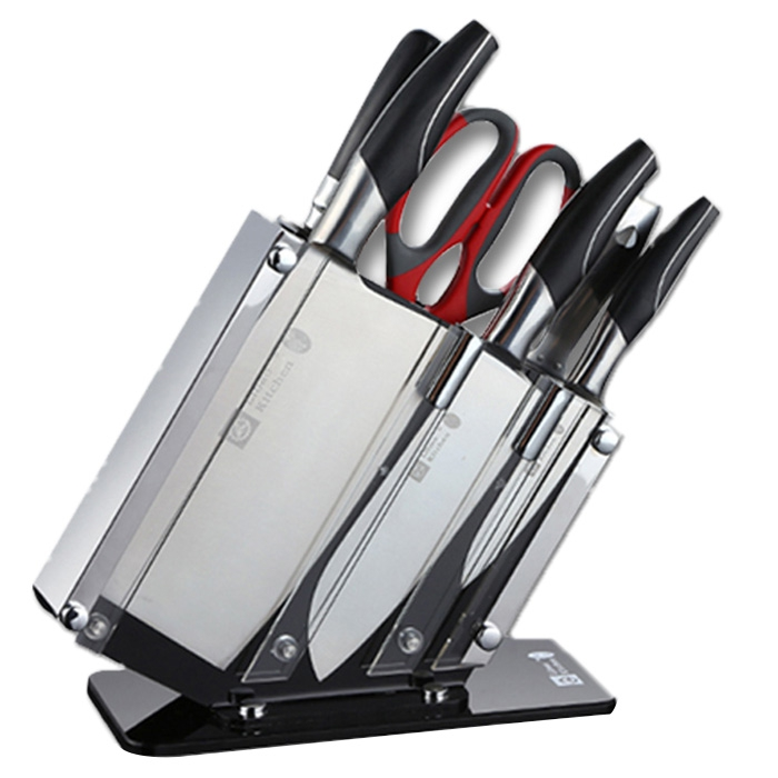 Couteau professionnel Set cuisine haute qualité en acier inoxydable Cutter sécurité couteau de cuisine Durable pour ménagère Chef cuisinier couteau ensembles