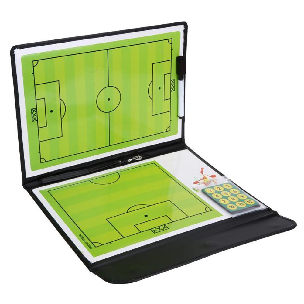 Professional Magnetic Soccer Tactics Board Football Coach Aid Erase Training Clipboard Folder