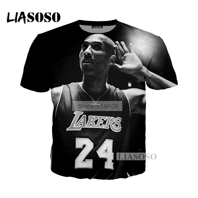 1f3279fc NEW Kobe Bryant LA Lakers Faith Stars 24 Tees Shirts 3D Print personality t  shirt/Hoodie/Sweatshirt Unisex Good Quality Tops
