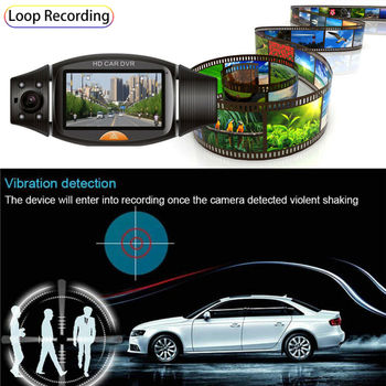 Car DVR Camera Dash Camera GPS Dual Lens Vehicle Video Recorder Full HD 1080P Car Dash Cam Auto Accessories Hot Sale