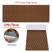 Self Adhesive 1900x700x5/5.5/6mm Thickness EVA Foam Faux Teak Decking Sheet Dark Brown Marine Boat DIY Protective Floor Carpet