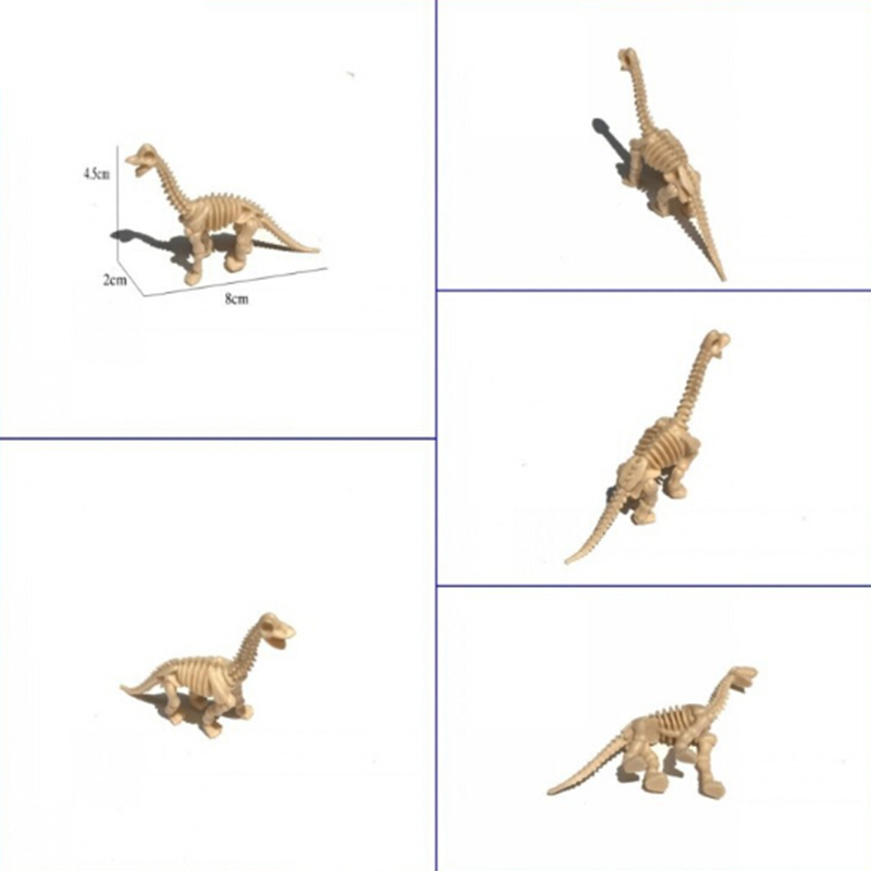6pcs PVC Simulated Dinosaur Fossil Bone Skeleton Model Decor Toys Kids Xmas Gift