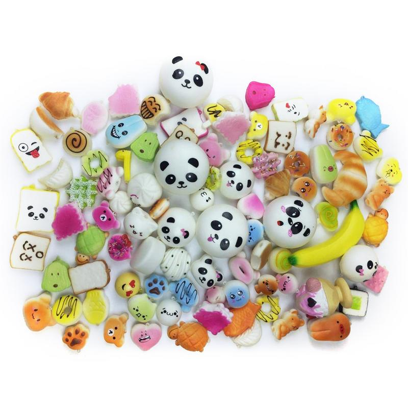 30PCS Artificial Bread Panda Slow Rebound Squishies Stress Reliever Toy