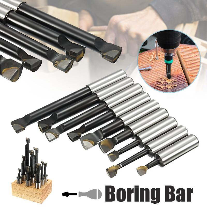 New 9pcs 12mm Shank Boring Bar Carbide Tipped Boring Bar For 2 Inch 50mm Boring Head For Lathe MillingNew 9pcs 12mm Shank Boring Bar Carbide Tipped Boring Bar For 2 Inch 50mm Boring Head For Lathe Milling