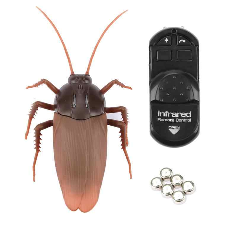Infrared Remote Control Mock Fake Cockroache Toy Animal Prank Insects Joke Scary Funny Trick Bugs for Kids Gifts