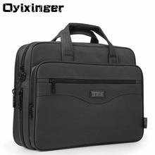"OYIXINGER Men Briefcase Laptop Bags Good Nylon Cloth Multifunction Waterproof 15.6"" Handbags Business Shoulder Mens Office Bags"