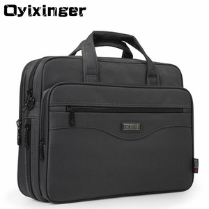 "Image 1 - OYIXINGER Men Briefcase Laptop Bags Good Nylon Cloth Multifunction Waterproof 15.6"" Handbags Business Shoulder Mens Office Bags"