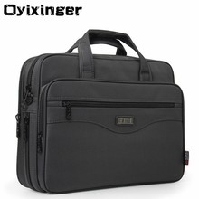 OYIXINGER maletín para ordenador portátil para hombre, bolsa masculina de buena calidad, de nailon, multifunción, impermeable, de 15,6 pulgadas, adecuada para negocios y oficina