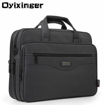 Oyixinger Männer Aktentasche Laptop Taschen Gute Nylon Tuch Multifunktions Wasserdichte 15,6 Handtaschen Business Schulter Herren Büro Taschen