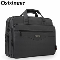 Oyixinger Men Briefcase Laptop Bags Good Nylon Cloth Multifunction Waterproof 15.6 Handbags Business Shoulder Mens Office Bags