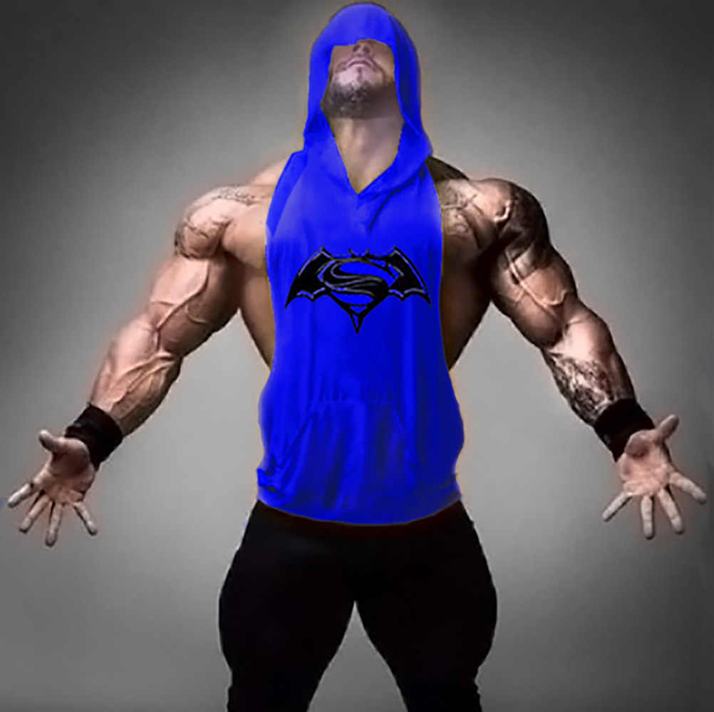 0c8fe512119bb ... Bodybuilding Cotton Bat War Superman Sweater Vest T Men Gym Clothing  Bodybuilding Stringer Hoodie Tank Top ...