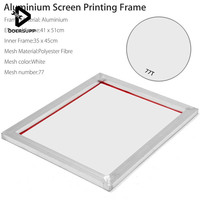 DOERSUPP Aluminium 41*51cm A3 Screen Printing Frame Stretched With White 77T Silk Print Polyester Mesh for Printed Circuit Board